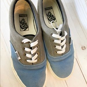 Boys custom vans blue / grey suede Era Pt